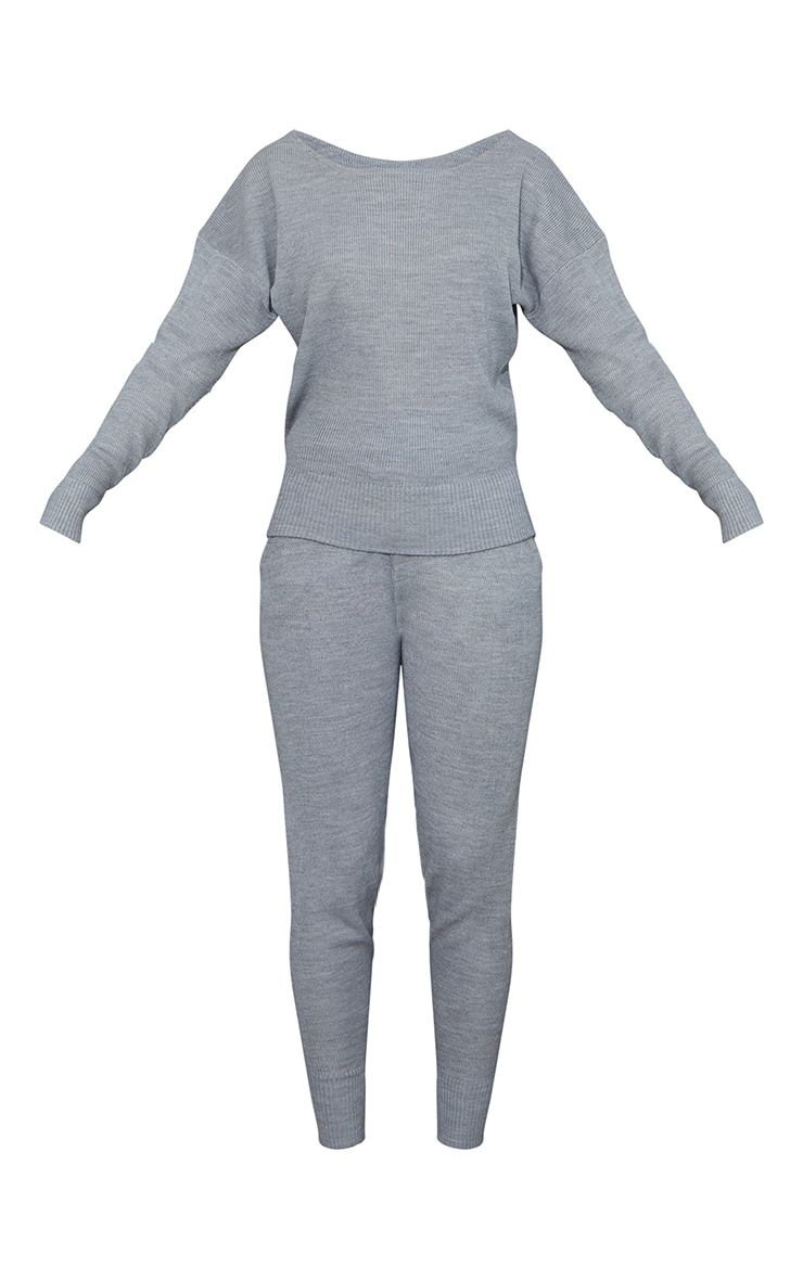 Grey Knitted Lounge Set 5