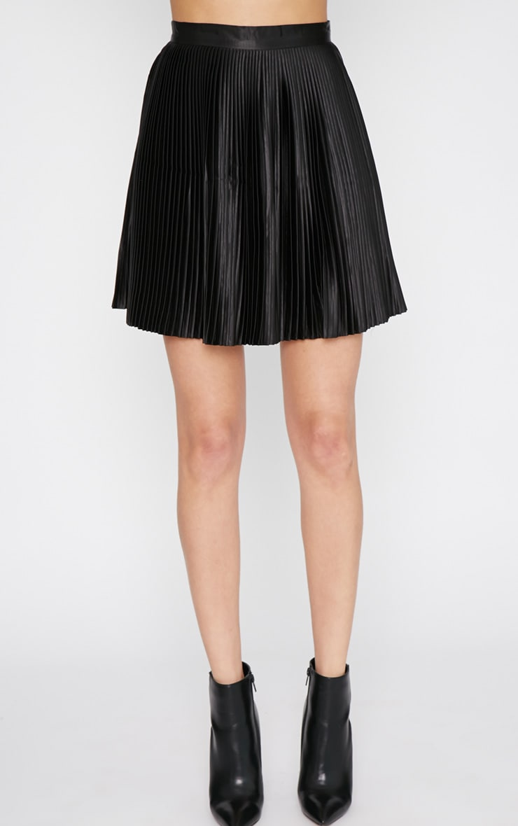 Samantha Black Pleated Mini Skirt  3