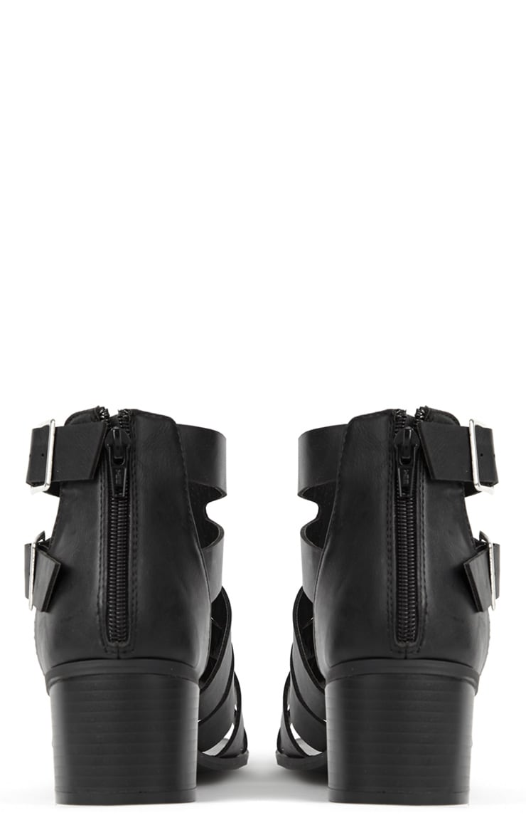 Juliana Black Block Heel Sandal  2