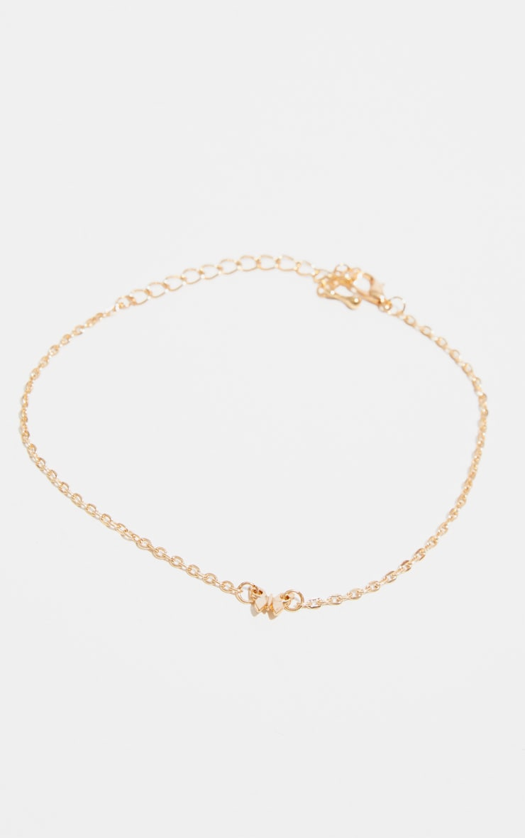 Gold Butterfly Delicate Chain Anklet 4
