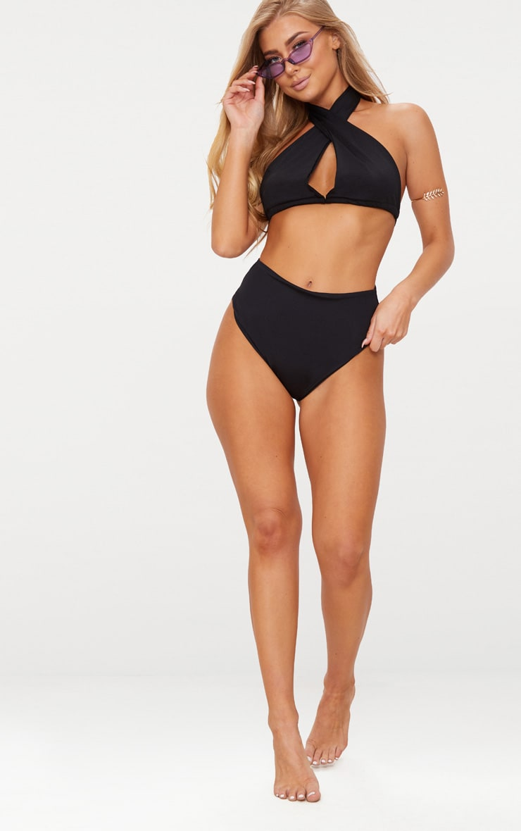 Black Multi Way Bikini Top 4