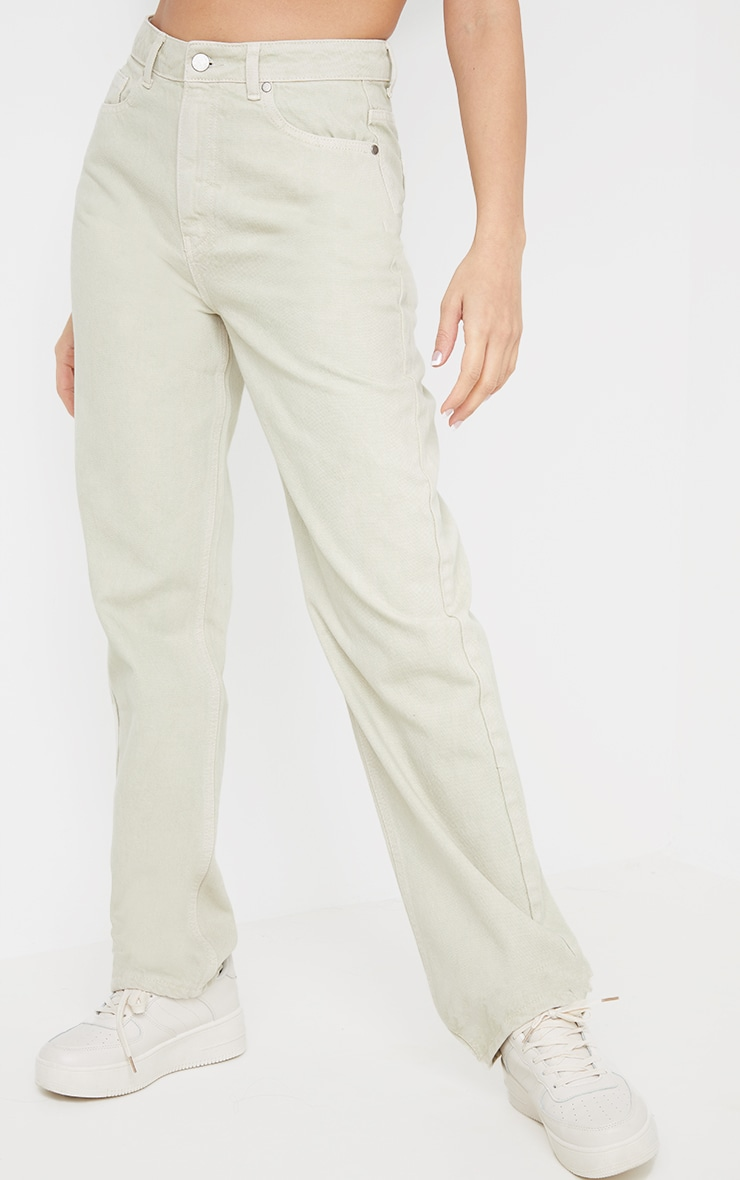 Stone Long Leg Straight Jeans 2