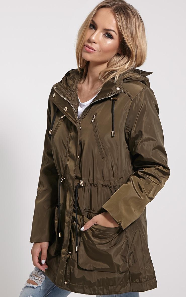 Safi Khaki Hooded Coat 1