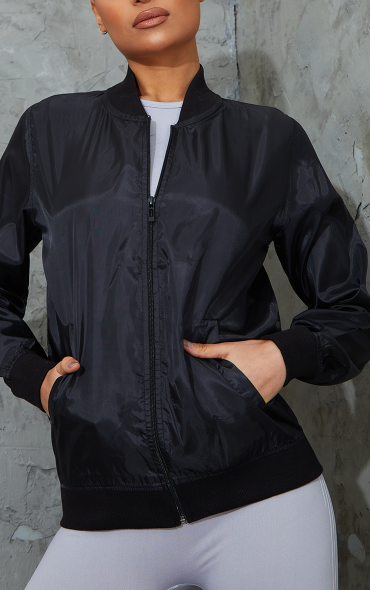 Black Lightweight Bomber Jacket 4