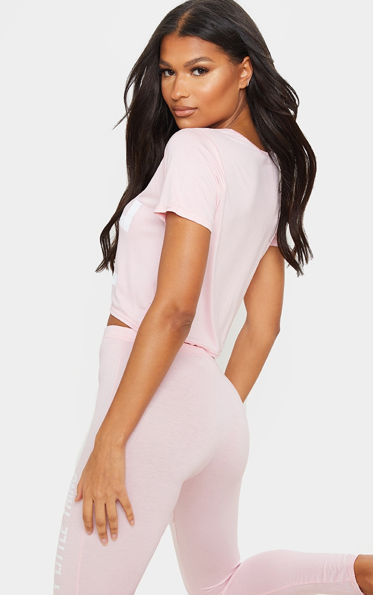 PRETTYLITTLETHING Pink Leggings PJ Set 2