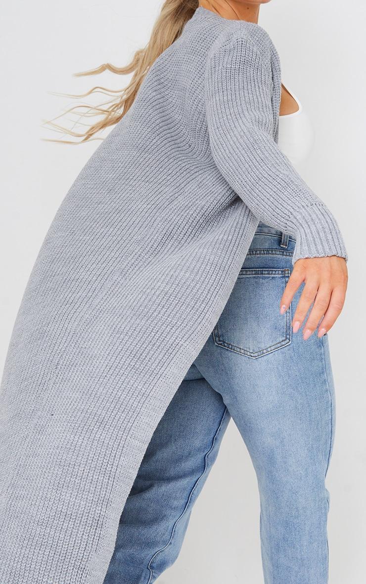 Light Grey Maxi Knitted Cardigan 4