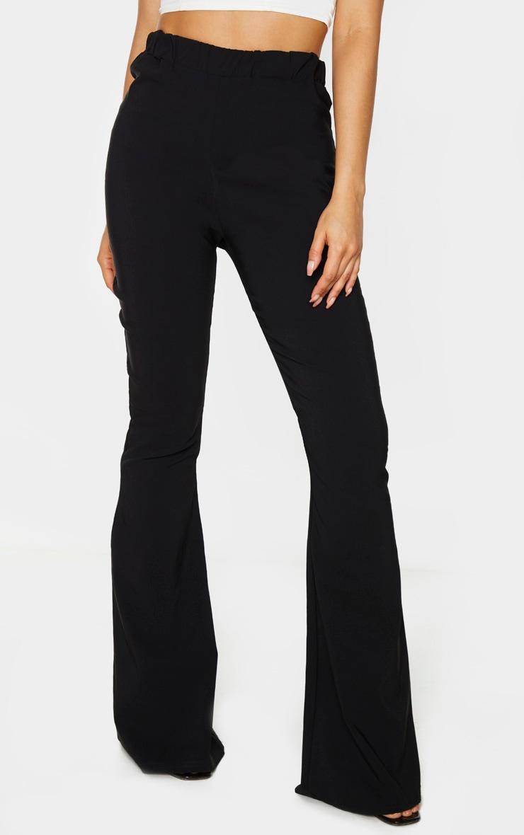 Tall Black Low Back Waist Wide Leg Flares 2
