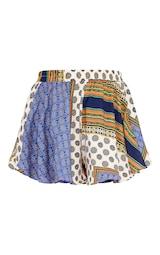 Multi Chain Print High Waist Floaty Shorts 6