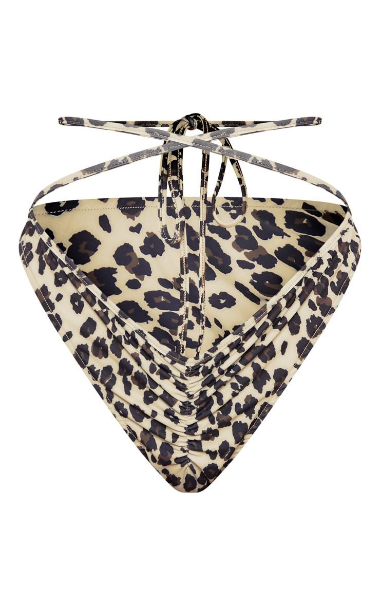 Leopard Ruched Bikini Bottom 6