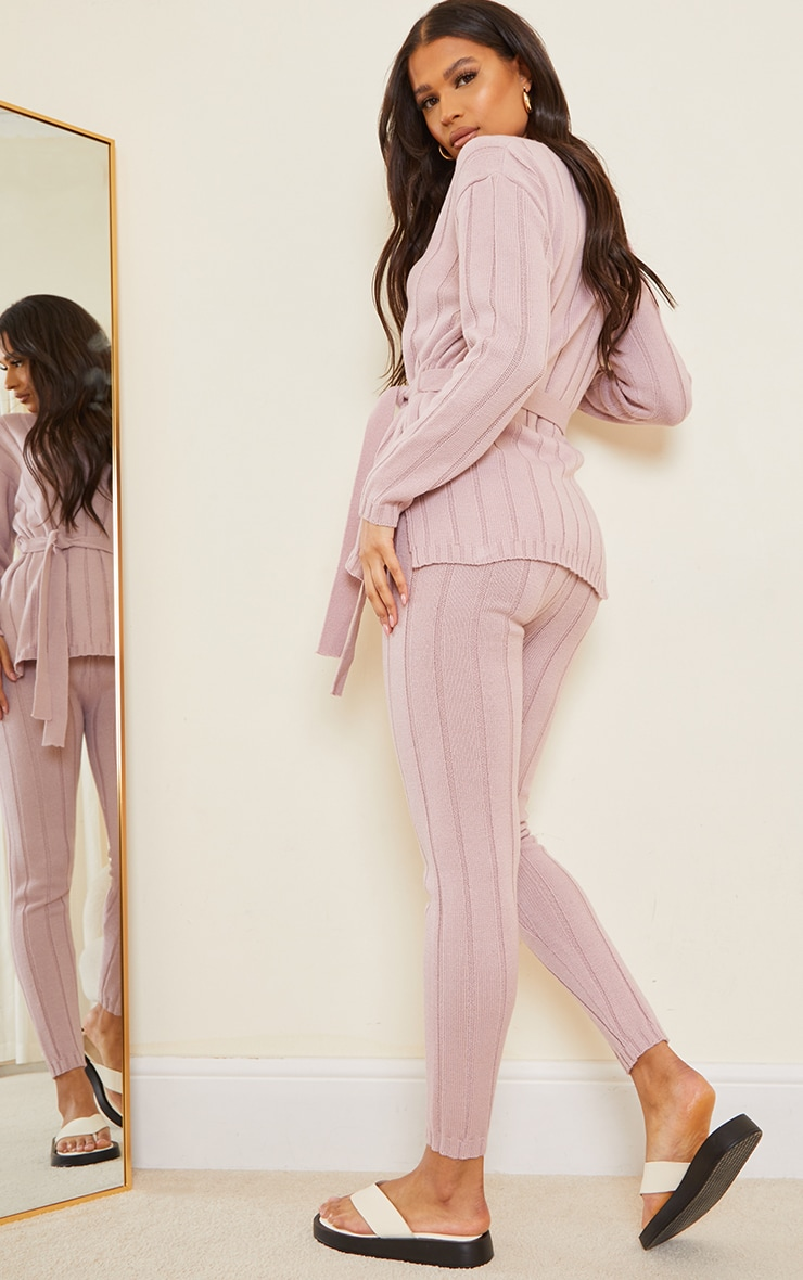 Rose Belted Longline Jumper And Legging Lounge Set 2