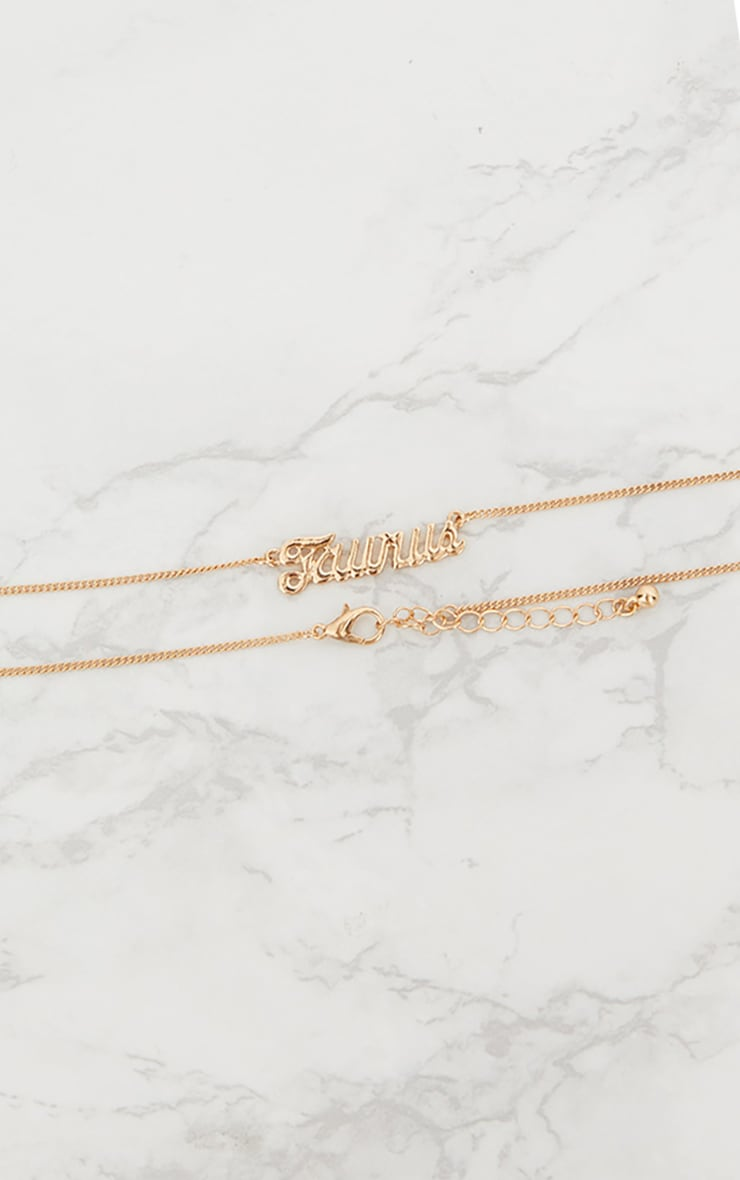 Taurus Zodiac Gold Necklace 2