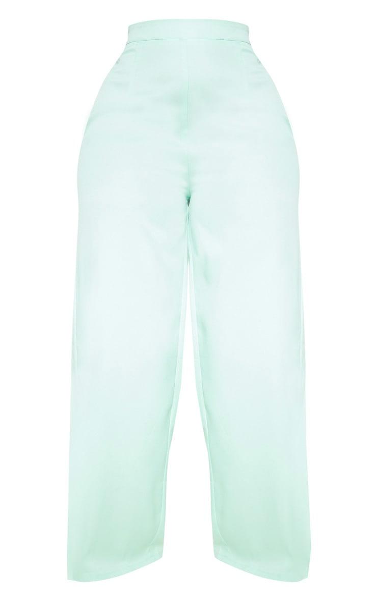Plus Sage Green Woven Wide Leg Pants 3