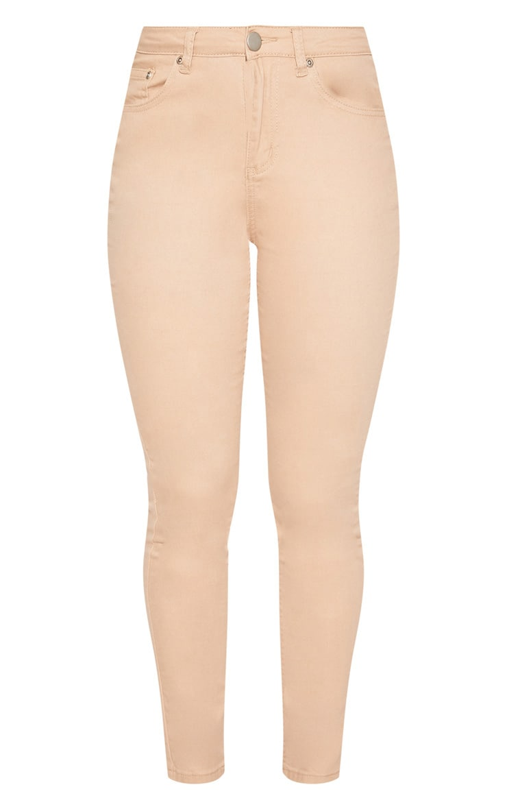 Nude High Waisted Skinny Jean 3