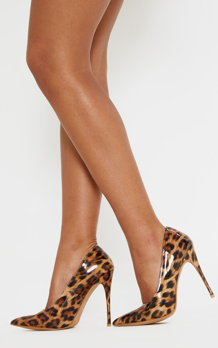 c375a55e7b2 Leopard Print Court Shoes image 1