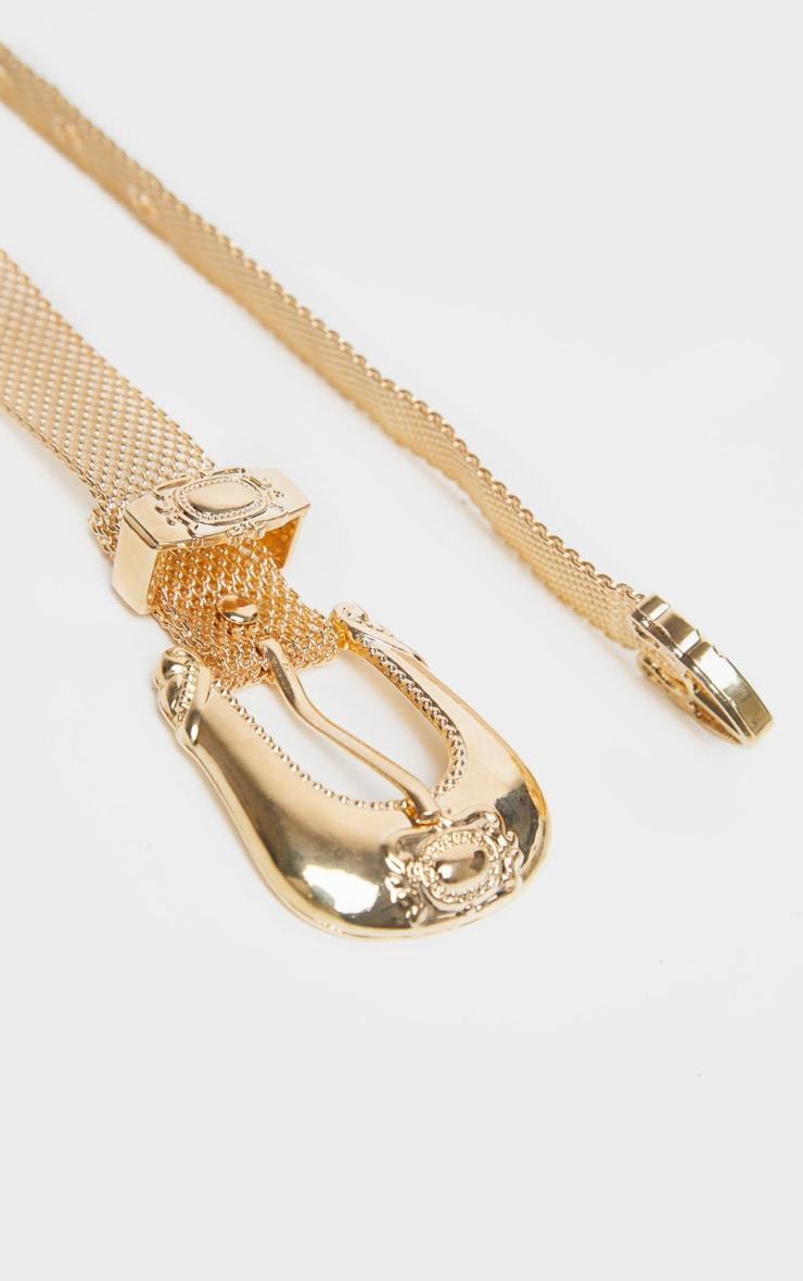 Gold Chain Link Western Belt 3
