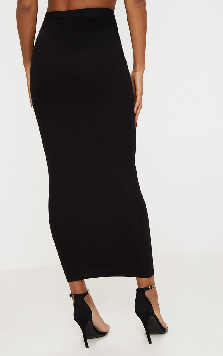 Black Jersey Midaxi Skirt  4