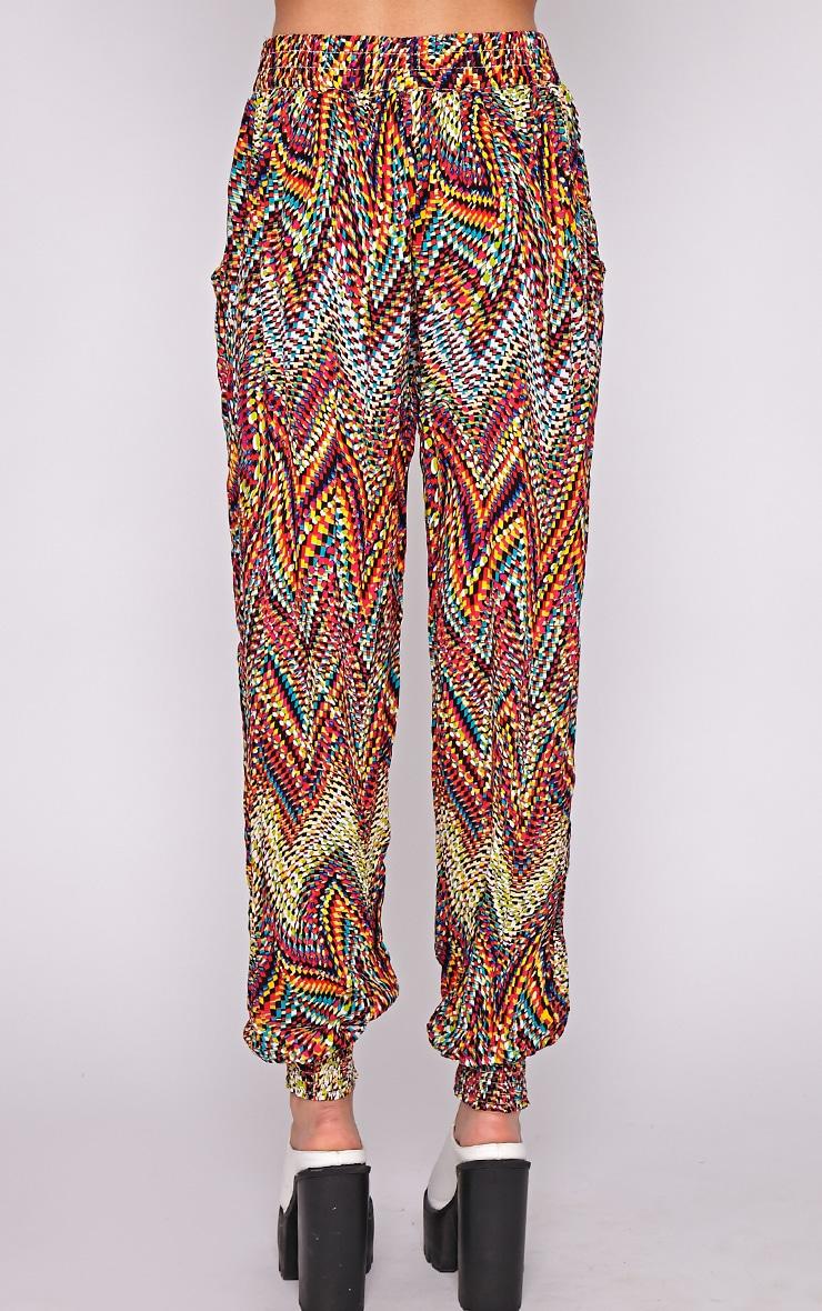 Nahla Yellow Print Harem Trouser 4