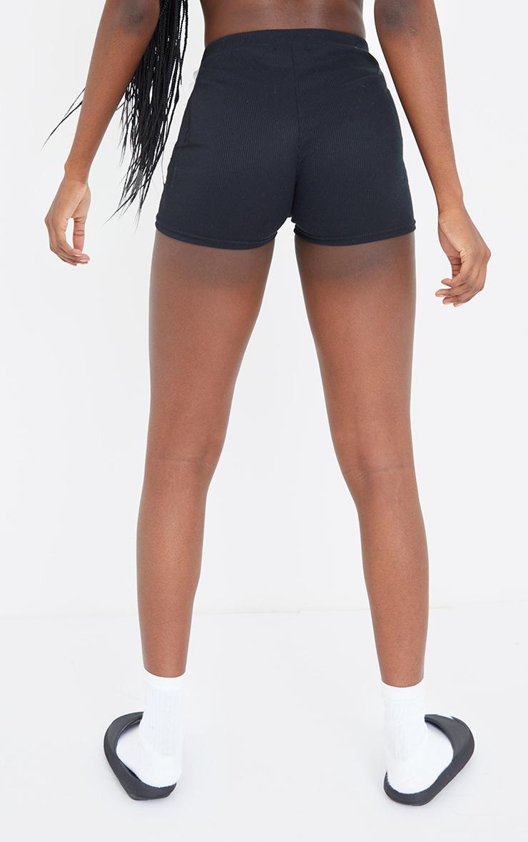 Tall Black Boxer Detail Bike Shorts 3