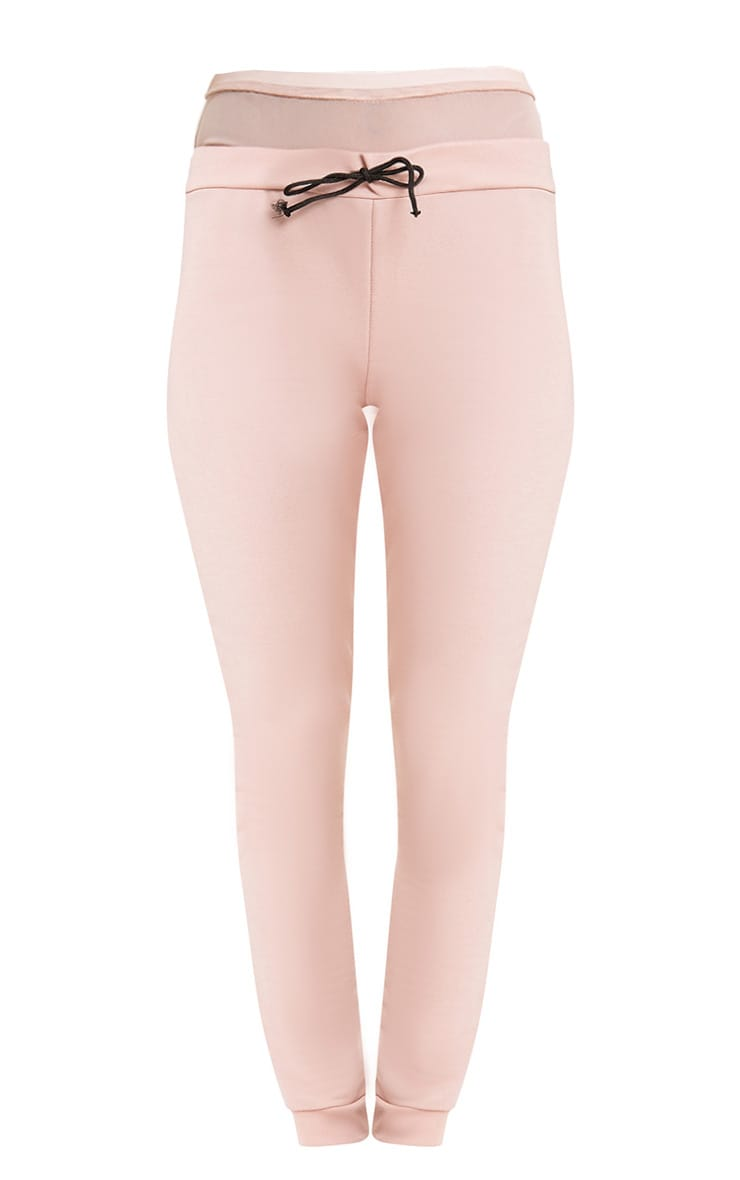 Bethsy Nude Mesh Waist Insert Joggers 3