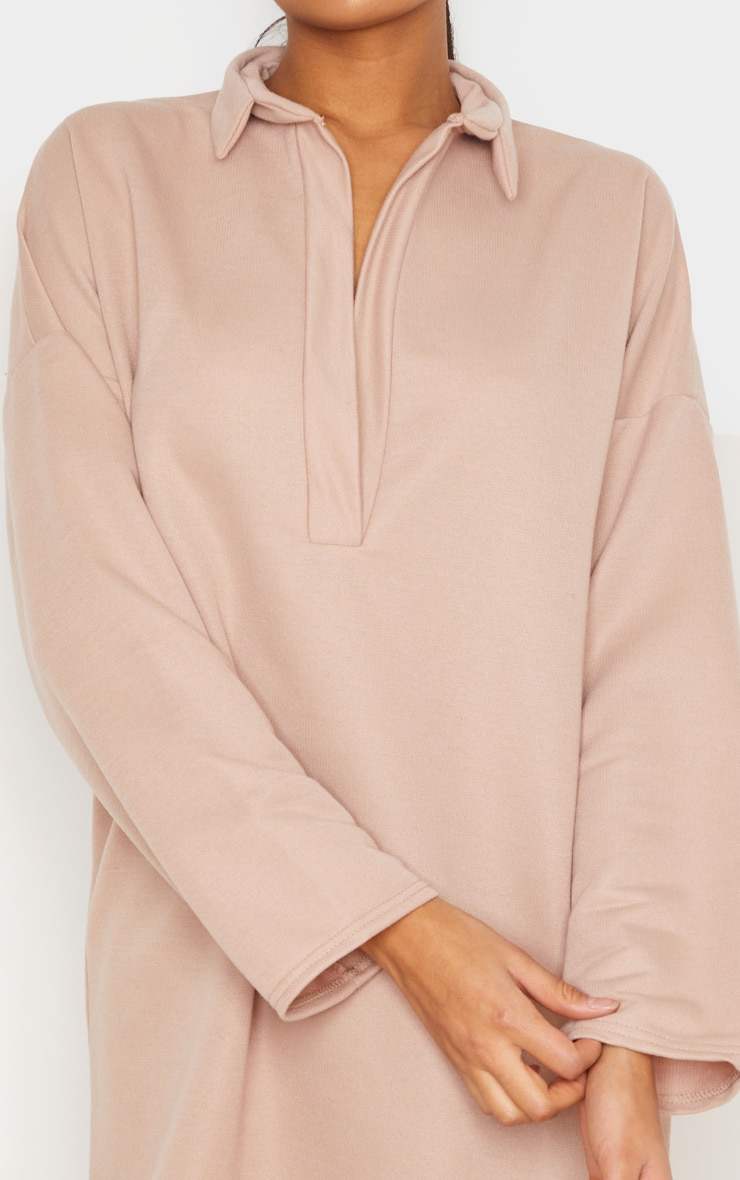 Stone Collar Detail Sweater Dress 4