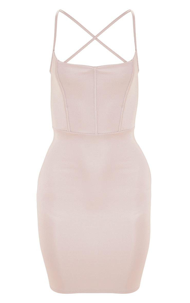 Plus Lilac Second Skin Binding Detail Bodycon Dress 3