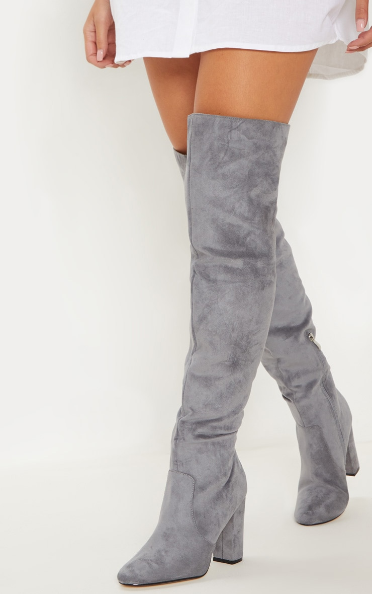 Grey Over The Knee Behati Boot 1