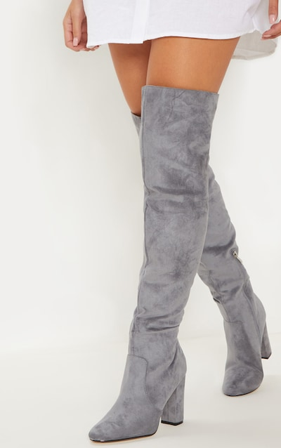582b0bf8518 Grey Over The Knee Behati Boot