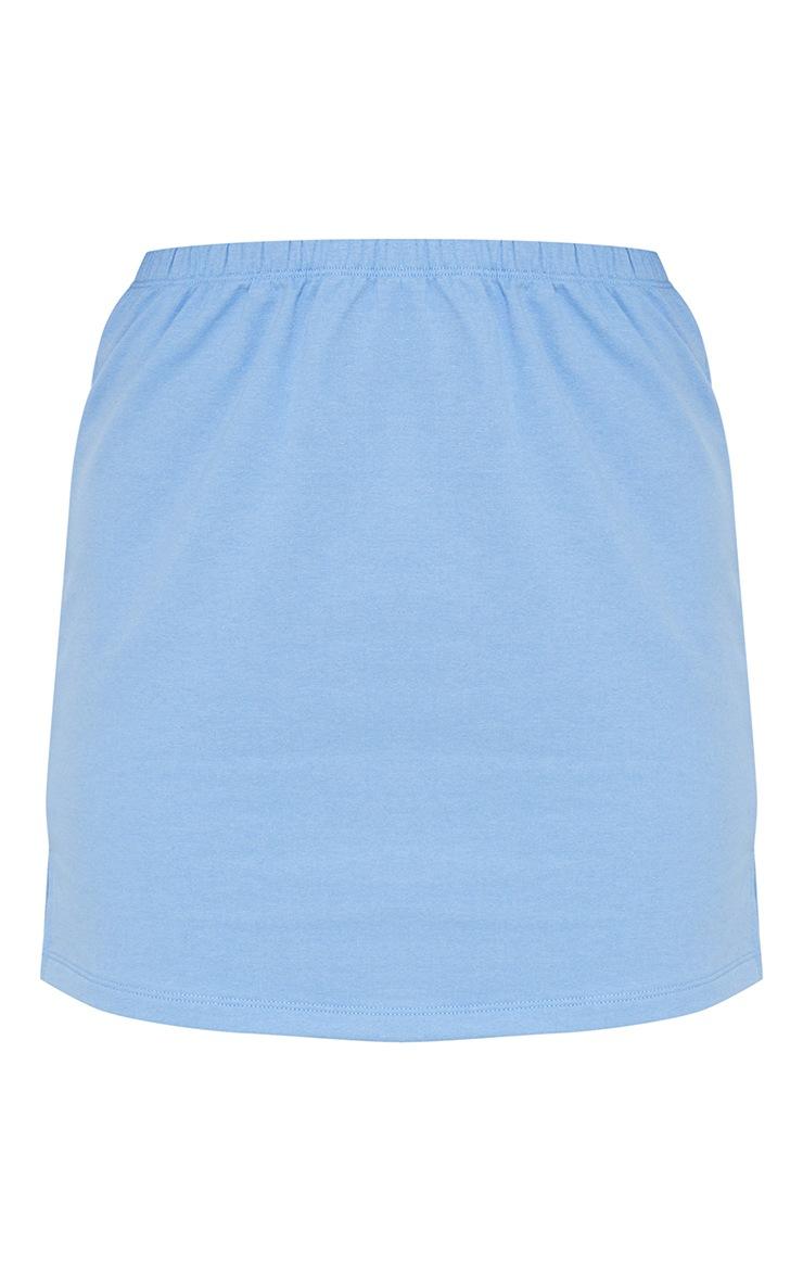 Petite Blue Split Hem Sweat Mini Skirt 6