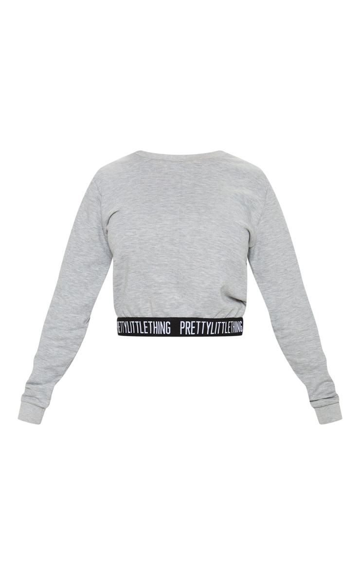 PRETTYLITTLETHING Petite Grey Lounge Sweater 3