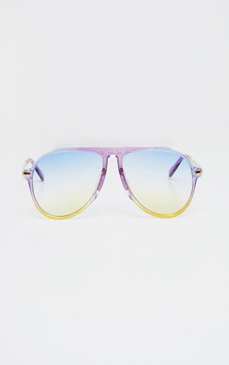 Multi Gradient Oversized Aviator Sunglasses 1
