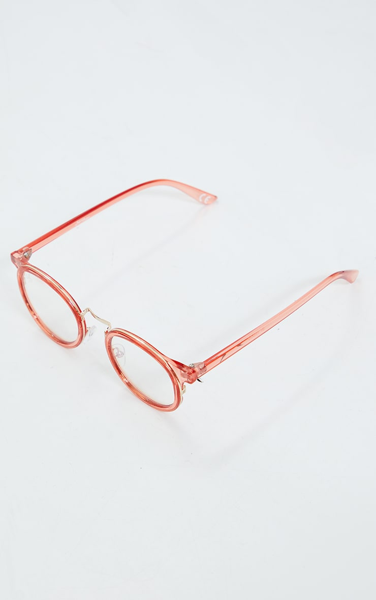 Jeepers Peepers Pink Round Blue Light Glasses 2