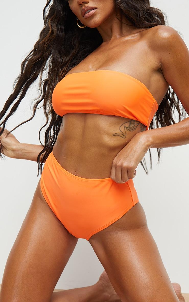 Recycled Orange Mix & Match High Waist Bikini Bottoms 1