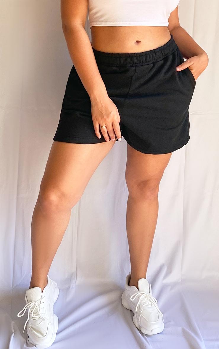 Plus Black Sweat Pocket Shorts 2