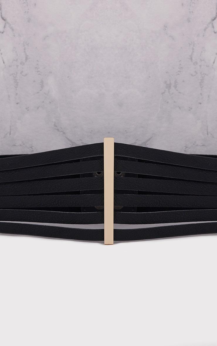 Ilena Black Multi Strap Detail Belt 4