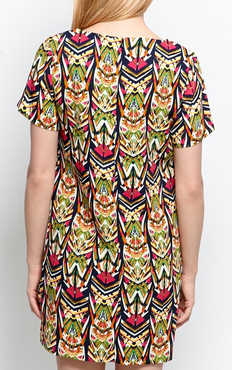 Biba Abstract Aztec Print Shift Dress 2