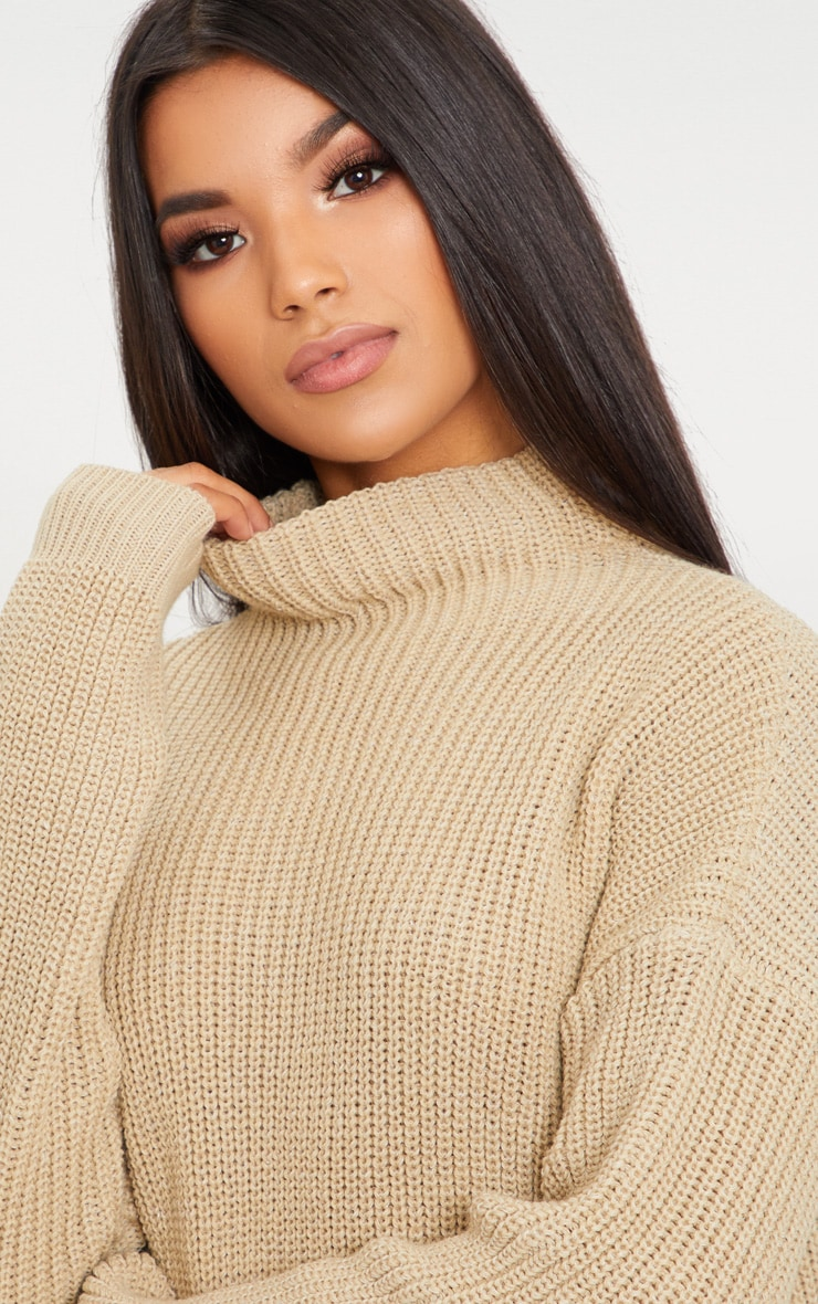 Stone High Neck Sweater 5