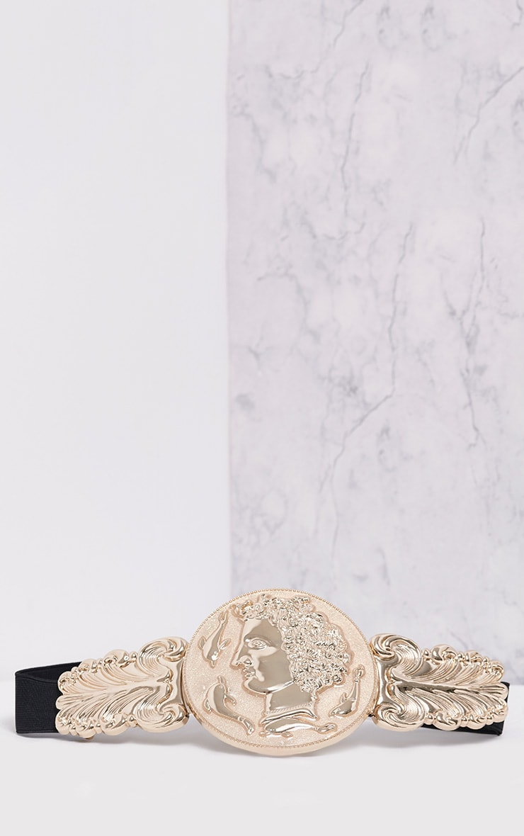 Alexius Gold Oversized Coin Detail Belt 3