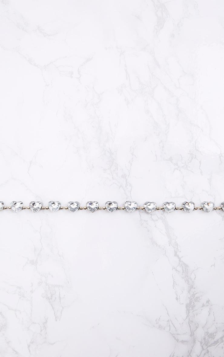 Silver Jewelled Heart Waist Belt 4