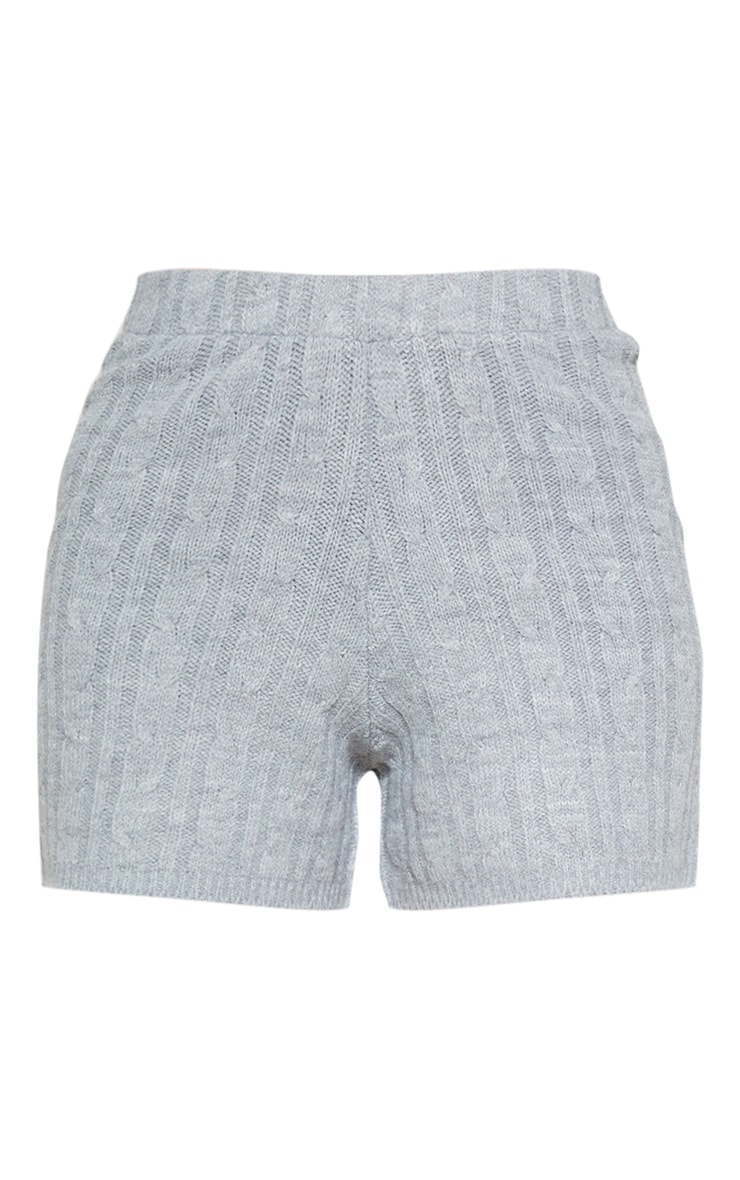 Grey Cable Knit Short 3