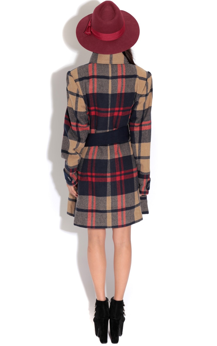 Elise Tailored Tartan Coat 5
