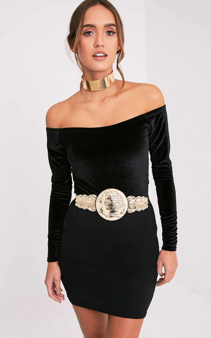 Alexius Gold Oversized Coin Detail Belt 1