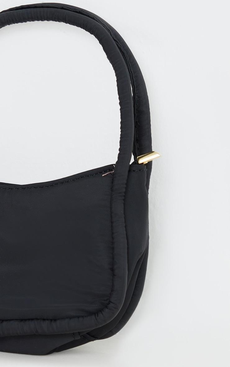 Black Nylon Double Strap Mini Shoulder Bag 4