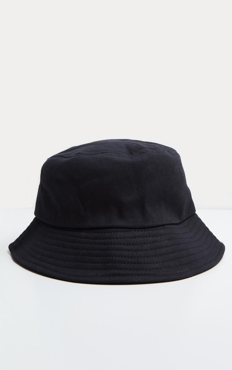 Plain Black Bucket Hat 2