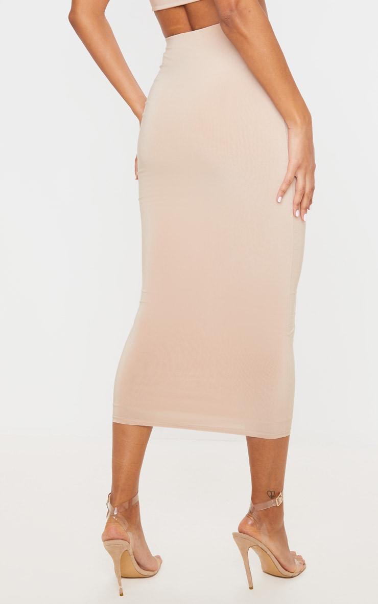 Stone Second Skin Slinky Longline Midaxi Skirt  4