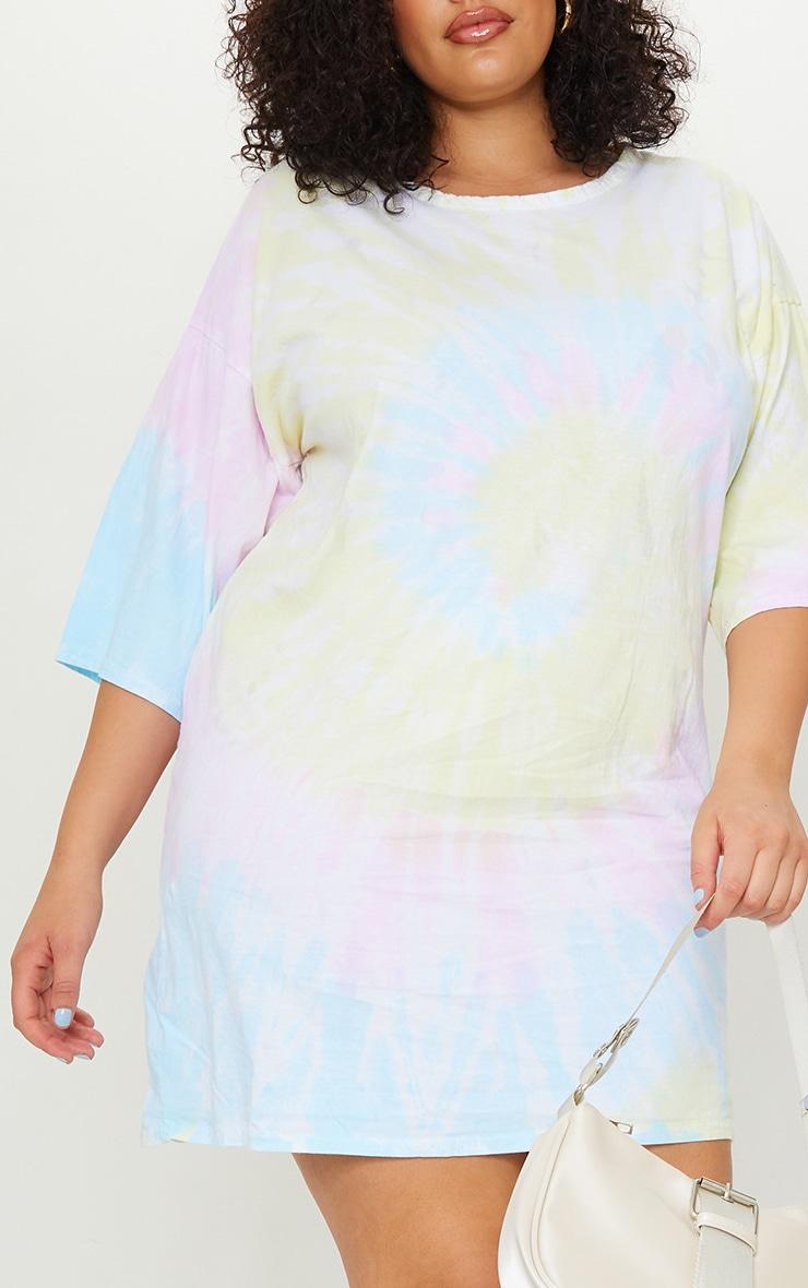 Plus Multi Tie Dye T Shirt Boyfriend Dress 4