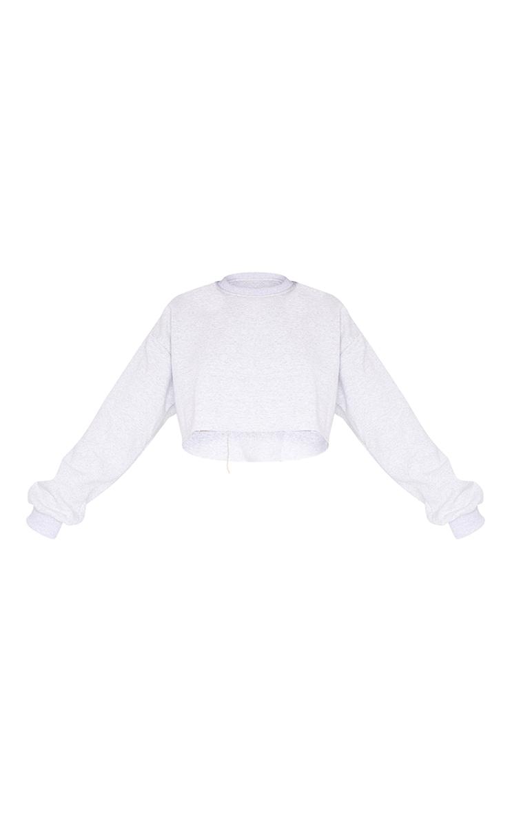 Ash Grey Ultimate Cropped Sweatshirt 5