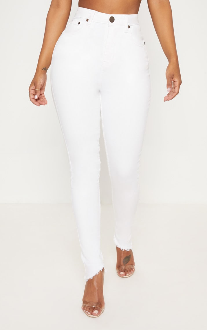 Shape White High Waist Skinny Jeans 2