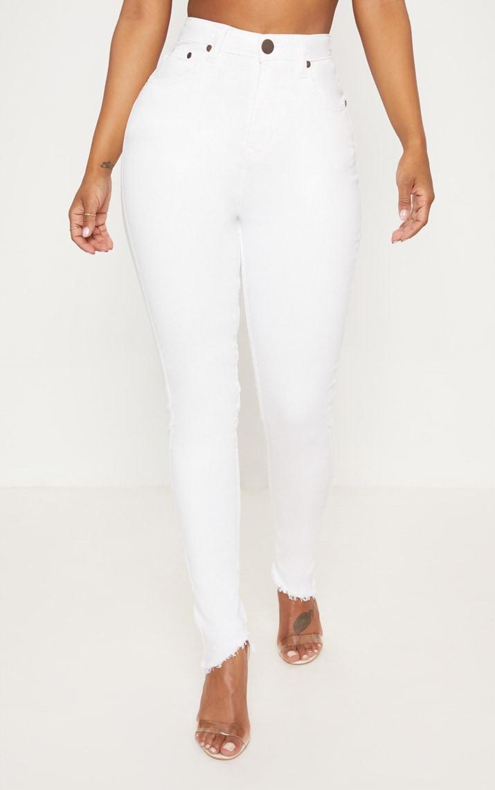 Shape- Jean skinny blanc taille haute 2