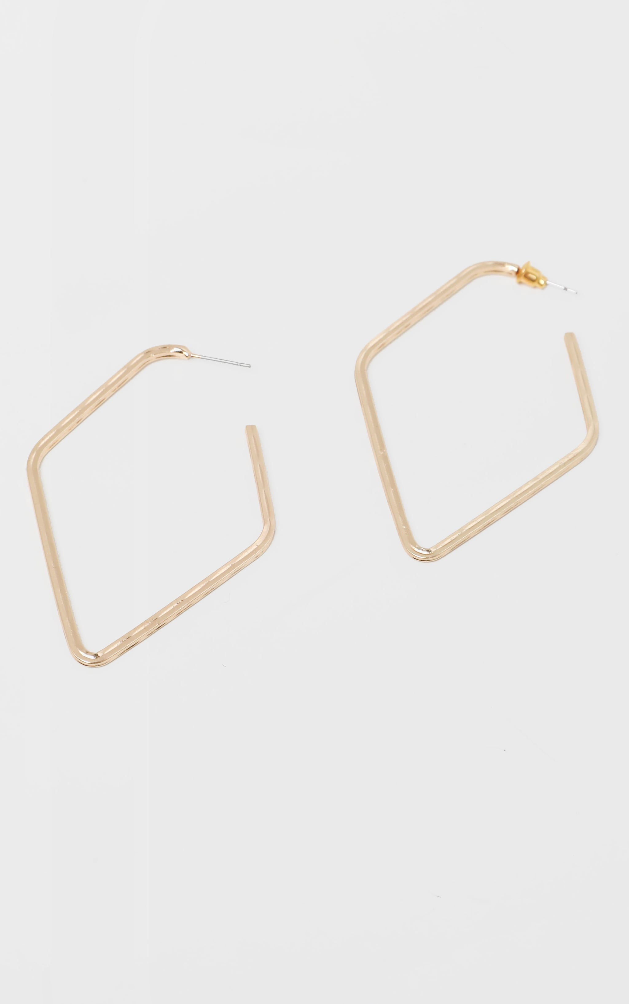 Gold Geo Hoop Earrings 2