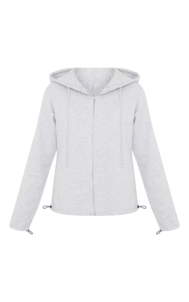 Ash Grey Oversized Zip Through Sweatshirt 5
